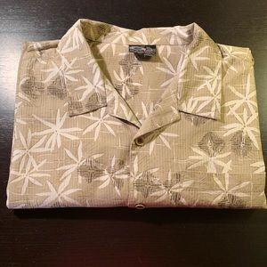 OP Sport Floral Short Sleeve Button Down Shirt